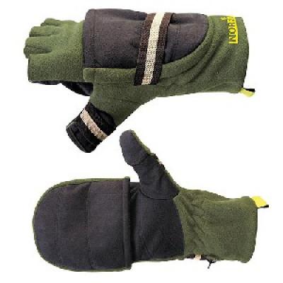 Перчатки-варежки ветрозащитные отстёгивающиеся Norfin (703080-L)