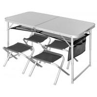 Стол складной Norfin RUNN + 4 стула (NF-20310)